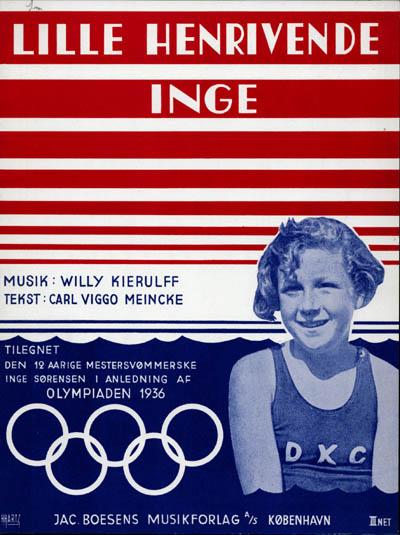 Sportsstjerner er populære. Titelblad til sange om 'lille henrivende Inge'