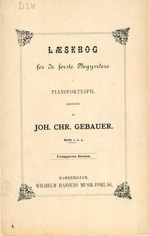 Titelbladet til Gebauers læsebog