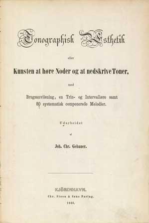Tonografisk Æsthetik, titelblad