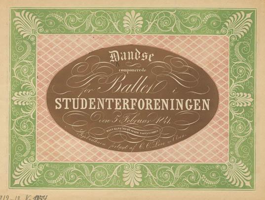 Titelbladet til Dandse for Studenterforeningen