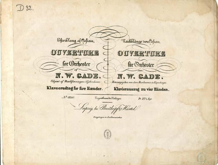Titelbladet til den 4-hændige udgave af ouverturen