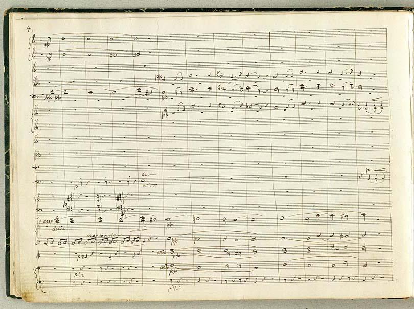 Side 4 fra ouverturen i håndskrift med Ramund-motivet
