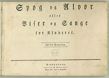 Titelbladet til den danske udgave af Dyveke-sangene. Klik for at se hele noden