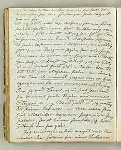 Manuskriptet til Sophie Zinn's erindringer. Klik for større billede