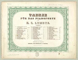 Forsiden på H.C. Lumbyes 'Marseillaisen-Galopp'. Klik for større billede
