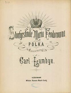 Forside til Carl Lumbyes 'Storfyrstinde Feodorowna Polka'. Klik for større billede