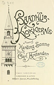 Harding Sonne: Raadhusklokkerne. Klik for større billede