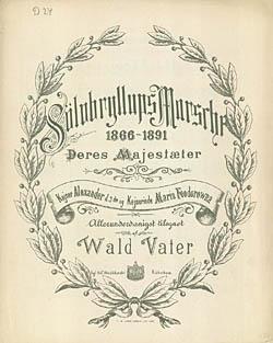 Titelbladet til Vaters 'Sølvbryllupsmarch'. Klik for større billede