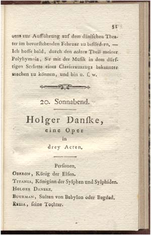 Første side af Cramers oversættelse af 'Holger Danske'