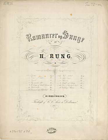 Titelblad til udgivelsen af sangen (1852)