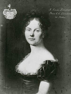 Portræt af baronesse Løvenskjold. Klik for større billede