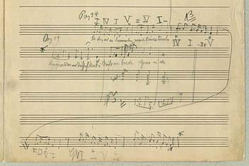 Carl Nielsens manuskript til 'Se dig ud'. Klik for større billede