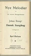 Titelblad fra melodibogen. Klik for større billede