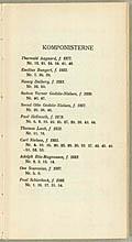 Komponistliste fra melodibogen. Klik for større billede
