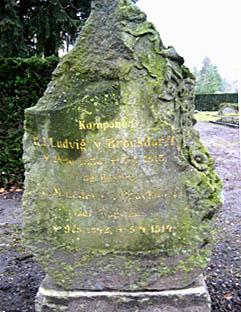 Ludvig Brockdorffs gravsten på Assistens Kirkegård. Klik for større billede