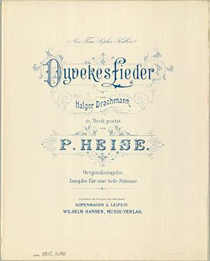 Titelbladet til den tyske udgave af Dyveke-sangene. Klik for større billede