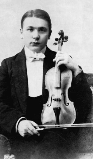 Portræt af Jacob Gade som ung