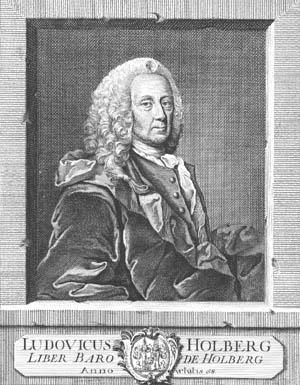 Portræt af Ludvig Holberg