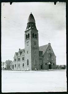 Billede af Skovshoved Kirke før 1935. Klik for større billede