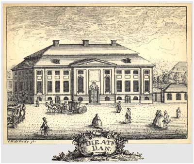 Billede af Den Danske Skueplads 1748
