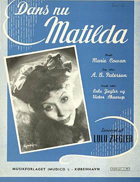 Forsiden af den danske version af 'Waltzing Mathilda'. Klik for større billede
