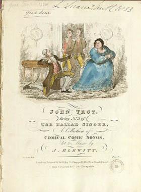 Titelblad fra engelsk node fra dronning Victorias tid. Klik for større billede