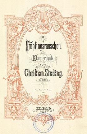 Titelbad til Sindings 'Frühlingsrauschen'. Klik for større billede