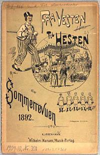 Titelbad til Sommerrevyen 'Fra Vesten til Hesten' 1892. Klik for større billede