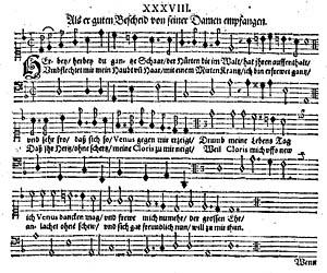 Melodien, som den ser ud i Voigtländers samling. Klik for større billede