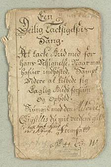 Afskrift af digtet fra Hielmstiernes samling. Klik for at se hele manuskriptet