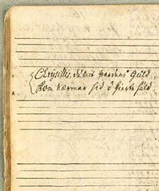 Afskrift af digtet fra Otto Thotts samling. Klik for større billede