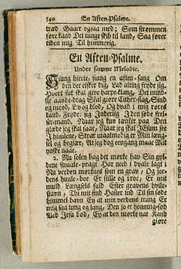 Brorsons aftensalme med melodiangivelsen 'Chrysillis'. Klik for større billede