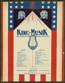 Forside til 'Kino-Musik' med musik til stumfilm.Klik for større billede
