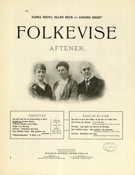 Titelblad fra trioens folkeviseaftener