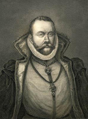 Tycho Brahe - Portræt i DNLB's portrætsamling