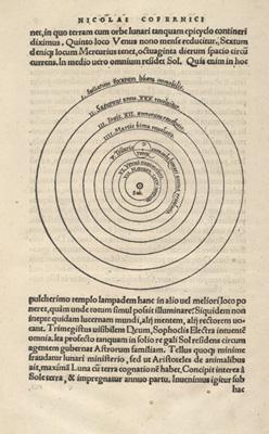Copernicus' verdenssystem, 1543