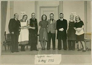 Billede fra en dilettantopførelse fra 1942. Klik for større billede