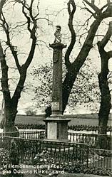 Willemoesmonumentet på Oddens Kirkegård. Klik for større billede
