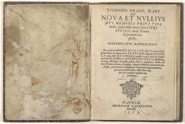 Tycho Brahe: De Nova Stella, 1573, titelblad