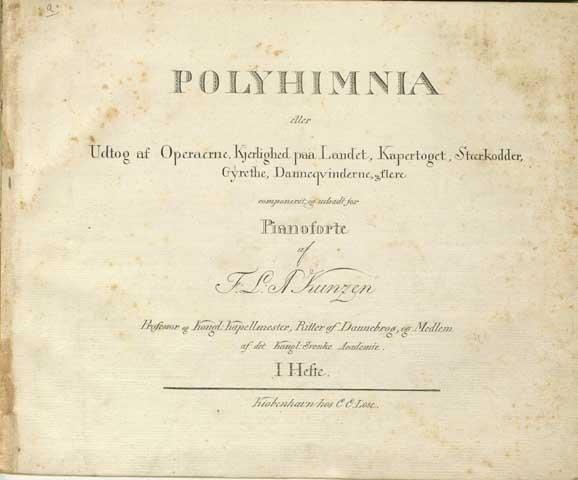 Titelbladet til 'Polyhymnia'