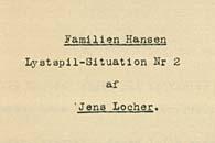 Titelbladet til DR-hørespillene 'Familien Hansen'. Klik for større billede