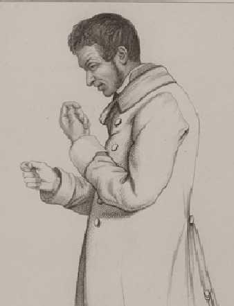 """Gestikulerende galning (Esquirol """"Des Maladies mentales"""", 1838)"""