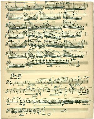 Fra renskriften af Carl Nielsens opus 48