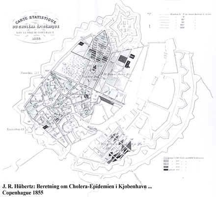 Koleraens udbredelse i København i 1853