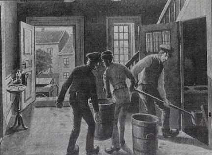 Natmænd i arbejde. Klik på billedet for at se en forstørrelse