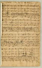 Klik for større billede. Første side af J.S. Bachs kantate 'Mein Herze schwimmt in Blut'