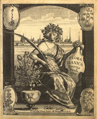 Simon Paulli: Flora Danica 1648. Frontispice