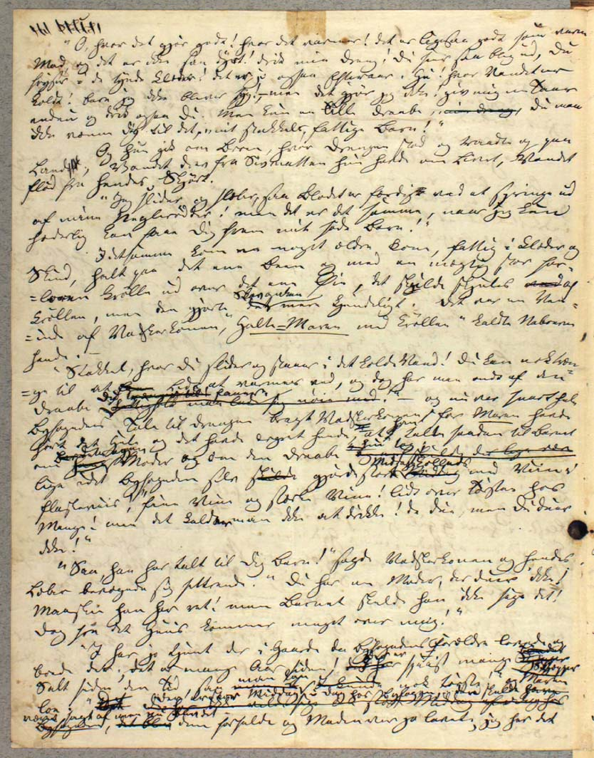grafisk gengivelse af manuskriptside