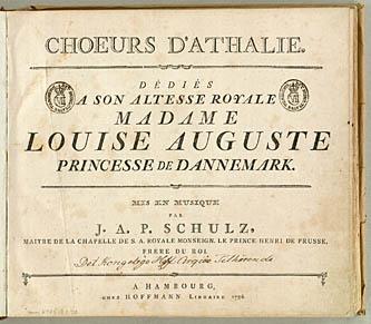 Titelblad til partituret med fransk tekst. Klik for større billede